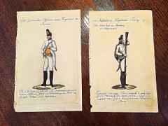 【ミリタリー アンティーク 入手困難】 オーストリアアンティーク版画プリント 19世紀に版画プリントされたオーストリア軍の絵画