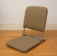 【送料無料】折りたたみ座椅子・ローバック『布/ブラウン色』