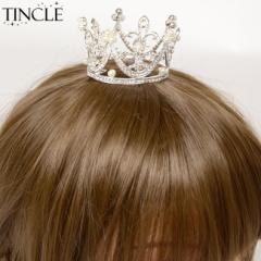 クリスタルデコレーションミニクラウン 王冠 ラインストーン パール ビジュー ウェディング 【ヘッドドレス ヘアアクセサリー】KM-667