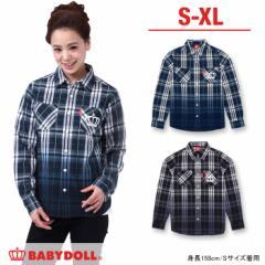 SALE50%OFF アウトレット 大人限定 グラデチェックシャツ 大人 男女兼用 襟付き レディース メンズ 子供服-7463A(XL通販限定)