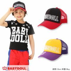 NEW♪ロゴ刺繍メッシュキャップ-雑貨 帽子 キッズ ベビードール 子供服-7688