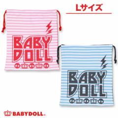 NEW♪スカルボーダーキンチャク(Lサイズ)-巾着袋 キッズ ベビー レディース ベビードール 子供服-7383
