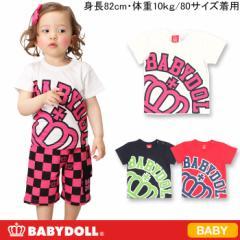 アウトレットSALE50%OFF★BIGロゴTシャツ-ベビーサイズベビードールBABYDOLL-6350B