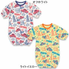 NEW♪新生児用2wayカバーオール/ドレスオール(総柄)-ベビーサイズ ベビードール 子供服-7643B