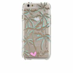 iPhone6 iPhone6s 【Case-Mate/ケースメート】「MIAMI CITY PRINTS PALM」 カバー クリア