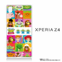 Xperia Z4 (SO-03G SOV31 402SO) クリアケース 【Disney/ディズニー/トイストーリー】 「ALL CAST(TOYSTORY)」  (Z4-71588)