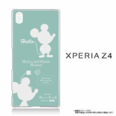 Xperia Z4 (SO-03G SOV31 402SO) 専用 【Disney/ディズニー】 クリアケース「ミッキー&ミニー (シルエット)」 (Z4-71584)