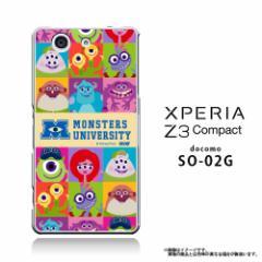 XPERIA Z3 Compact SO-02G クリアケース 【Disney/ディズニー/モンスターズインク】 「ALL CAST」 マイク/サリー (Z3c-71517)