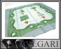 あす着 BVLGARI ブルガリ ファッション小物 メンズ レディース スカーフ グリーン系