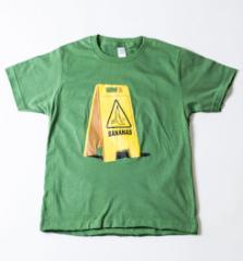 キッズ プリントTシャツ この先バナナ有 ボーイズ ガールズ 半袖 おもしろ 子ども ジュニア 子供服