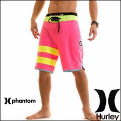 HURLEY サーフパンツ メンズ 水着 ボードショーツ トランクス PHANTOM BLOCK PARTY 19インチ ジム フィットネス ショート丈 ピンク