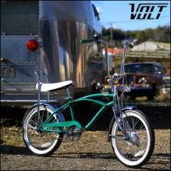 """ビーチクルーザー """"VOLT BICYCLE"""" グリーン 20インチ オールドスクール 自転車"""