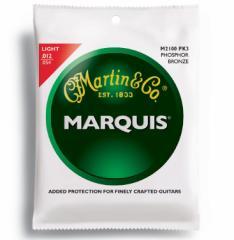 MARTIN(マーチン弦) 「M2100PK3×1パック」(3セット入り)ライト・ゲージ  Marquis 92/8 Phosphor Bronze Light  Acoustic Guitar/M-2100