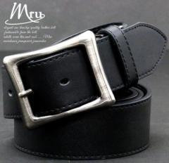 (エムアールユー) Mru ベルト メンズ 本革 牛革 ロング 3color