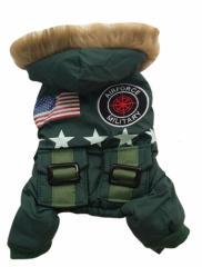 Military Jacket ミリタリージャケット パーカー ロンパース オーバーオール 犬服 ペット服 5Size