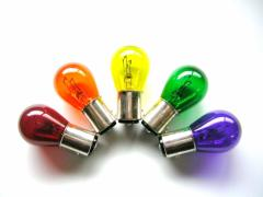 【24Vバルブ 電球】24V25/10Wダブル球 生地着色球なので色あせしないカラー球 ブレーキ・コーナーバルブなどにBAY15D S-25