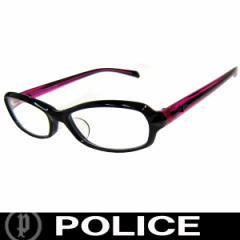 POLICE ポリス だてめがね 眼鏡 伊達メガネ サングラス V1850J 3KH 53 国内正規代理店商品 定価18360円 (90)