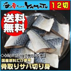 【送料無料】骨取りサバの切り身40g×12切れ※個別冷凍さば/鯖/魚/つまみ/お手軽/サバサンド