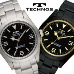 腕時計 メンズ TECHNOS テクノス クロノグラフ ブランド スイス ベルト調整工具付き TSM208【送料無料】
