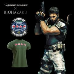 BIOHAZARD BSAA BM・DRYハーフスリーブ(バイオハザード/BODYMAKER/ボディメーカー/半袖Tシャツ/速乾/伸縮/スポーツ)