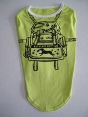 Pecolle バッグパックTシャツ イエローグリーン 中型犬用 MDLサイズ ♪