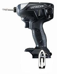 日立工機 14.4V コードレスインパクトドライバー 充電式 ブラック 蓄電池・充電器別売り WH14DKL(NN) 本体のみ