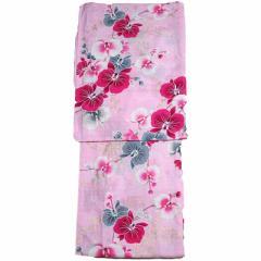 女性用 浴衣 フリーサイズ 変わり生地 レディース ゆかた ピンク 花火大会や夏祭りに87825