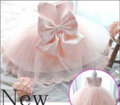 レース柄ドレス子供★キッズ ワンピース ベビードレス 女の子用 ウェディングドレス パーティー発表会 結婚式
