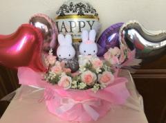 ミッフィー ウエディング 洋装 【送料無料】【電報 結婚式】【ぬいぐるみ電報】【結婚式 祝電】(1072)