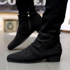 ブーツ ショートブーツ メンズ ショート丈 靴 シューズ メンズファッション ドレープ ドレープブーツ 紳士靴 ショート