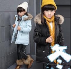 女の子ダウンコート ダウンジャケット ロング丈 中綿入りアウター  ふわもこ 暖かい 防寒 9歳〜13歳