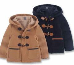 女の子男の子防寒アウター ジャケット キッズダッフルコート厚手ダッフルコート三つボタン小学生ダ 2色全品