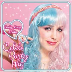 ■送料無料■セレブパーティ第4弾 カーリーロング(ロリータ)ピンク×ブルーウィッグ【お取り寄せ】