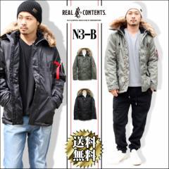 ジャケット N3B メンズ N3-B フライトジャケット 中綿ジャケット リアルコンテンツ ストリート系 M L XL XXL 大きいサイズ hit_d