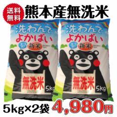 新米 洗わんでよかばい 無洗米 全国送料無料 28年産 お急ぎ便対応 100%熊本産 10kg(5kg×2袋) くまモン