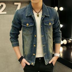 デニムジャケット メンズ Gジャン アウター ジージャン ジャケット メンズコート ショートジャケット 韓国風 長袖 ライトウォッシュ