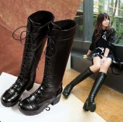 編み上げブーツ レースアップ 袴 卒業 ブーツ ロングブーツ レディース 女性ブーツ ヒール 靴