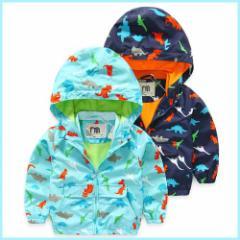 子供 子供服 キッズ フード付き ジャケット コート ウインドブレーカー トップス アウター 防寒 防風 保温 kd1140