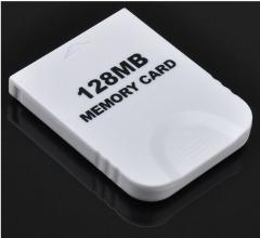 大容量【2043ブロック/128MB】Wii/ゲームキューブ対応 メモリーカード【ホワイト】