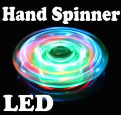 【即日発送】 LED ハンドスピナー  クリアーABS!激光!光る!夏祭りやイベントにぴったり!