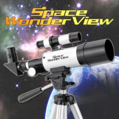 【送料無料】ナシカ製 小型・軽量タイプ 天体望遠鏡 スペースワンダービュー GD-T003 天体観測セット 望遠鏡セット 三脚 レンズ付き♪