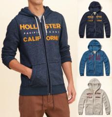 ホリスター パーカー メンズ フル ジップ 裏起毛 正規 Hollister 322-0014all