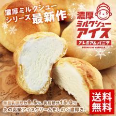 【送料無料】【アイス】濃厚ミルクシューアイス15個入り【シューアイス】【バニラ】
