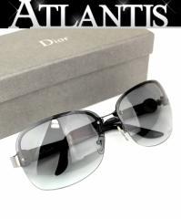 美品!クリスチャン ディオール Christian DIOR サングラス 眼鏡 ブラック