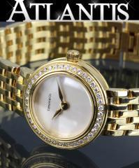 銀座 ティファニー マークラウンド ダイヤ K18YG レディース 腕時計