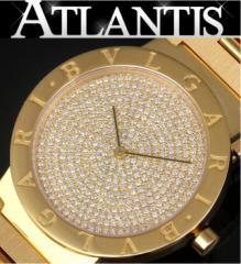 銀座 ブルガリ K18YG無垢 ダイヤ文字盤 BB33DGG メンズ腕時計