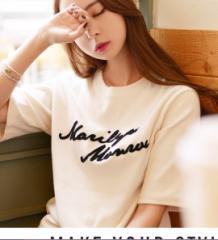 新登場☆韓国 ファッション ドルマンTシャツ ビックT かわいい キレイ色 ボックスTシャツ かわいい 普段着 カジュアル