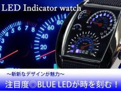 【送料無料】■LEDインジケーターウォッチ ブラ...