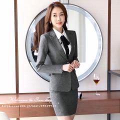 ビジネスオフィススーツ/4点セット/OL通勤/面接/お宮参り/卒園式/高品質/安い/大きいサイズ/tz-09
