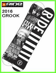 2016 RIDE CROOK 149cm ライドスノーボード ツインロッカーフリースタイルボード